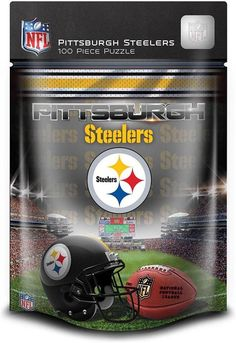 NEW Jigsaw Puzzle 100 Piece Masterpieces NFL PITTSBURGH STEELERS Football Age 6+ #MasterPieces