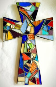 colorful mosaic cross