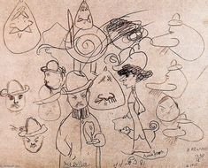 Pablo Picasso drawings | ... Portrait of Alfred Jarry, Drawing by Pablo Picasso (1881-1973, Spain