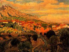 """Joaquim Mir Trinxet (1873-1940). """"Rodalies (Alrededores), 1931"""". Óleo sobre tela. 60,5 x 82 cm. Colección particular. Barcelona."""