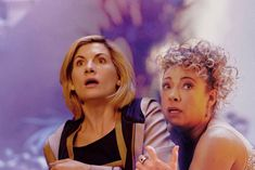 Thirteen with River Song River Song Hair, River Song Outfit, River Song Costume, River Songs, Doctor Who Meme, Doctor Who Quotes, Matt Smith Doctor Who, David Tennant Doctor Who, 13th Doctor
