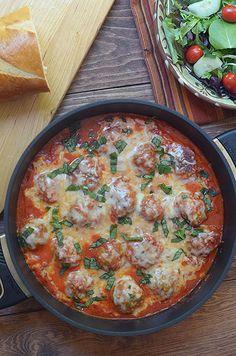 Turkey Parmesan Meatballs in a Tomato Cream Sauce