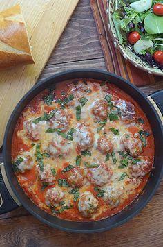 Turkey Parmesan Meatballs in a Tomato Cream Sauce