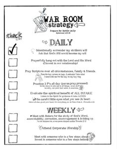 War Room strategy. Like the idea of laminating verses or prayers to keep on tags to hang in the War Room & taking one w/ me for the day when I need reminder.