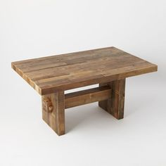 Bar is nice to put feet on: Emmerson™ Reclaimed Wood Dining Table