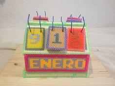 Calendario 3D de hama beads