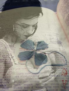 double exposure, love the softness with the words and flowers