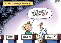 Editorial cartoon: How Clinton prepares for the debate | Washington Examiner