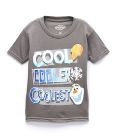 Love this Charcoal Frozen Olaf Graphic Tee - Toddler & Boys by Frozen on #zulily! #zulilyfinds $7.99, regular 20.00