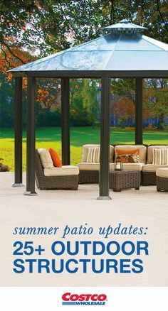 Can't you just picture a gorgeous Gazebo in your backyard? When you're looking for products to make outdoor entertaining fun and easy, Costco can help! With plenty of space for party guests, one of these stunning additions can be used to update your patio, deck, or pool area for summer.