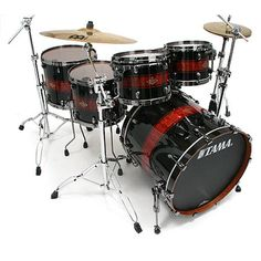 Tama - B62 Bubinga Star Class Edition Black Banded Quilted Bubinga : Acoustic Drums