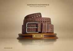 Handmade Masterpiece. Italian long lasting quality belts.  Advertising Agency: Solid studio, Caserta, Italy  Creative Director: Maurizio Cascio  Art Director: Raffaele Sabella  Copywriter: Giuseppe Marotta  Photographer: Rosaria Grauso