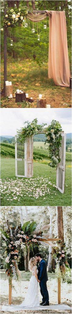 #weddingarches #weddingdecor #weddingideas #weddinginspiration #bohoweddings bohemian themed wedding arch ideas