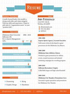 The Ribbon - Resume Template  #resume #jobsearch #creativeresume #resumedesign  www.resumelaunch.net