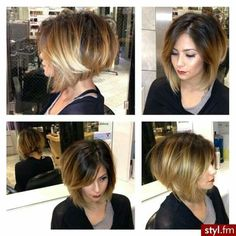 Bob Hairstyles : Easy haircut idea for women 2015 - Hairstyles Trends Network : Explore & Discover the best and the most trending hairstyles and Haircut Around the world 2015 Hairstyles, Cute Hairstyles For Short Hair, Short Hair Cuts, Stacked Hairstyles, Trendy Hairstyles, Hairstyle Pics, Curly Hairstyles, Celebrity Hairstyles, Wedding Hairstyles
