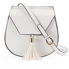 Yoki Flap Fringed Tassel Crossbody Saddle Bag (92.005 COP) ❤ liked on Polyvore featuring bags, handbags, shoulder bags, purses, white, purse shoulder bag, fringe crossbody purse, fringe purse crossbody, crossbody purse and man bag