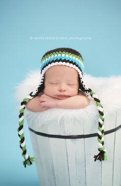 Boy Earflap Beanie Great Newborn Photo Prop $22 #etsy #prop #beanie #newborn