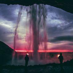Imagen de sunset, sky, and waterfall
