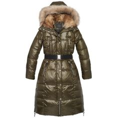 Andrew Marc Liz (€145) ❤ liked on Polyvore featuring outerwear, coats, parkas, andrew marc coats, down filled coat, faux fur trim puffer coat, brown puffer coat and insulated coat