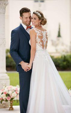 6399 Grecian Column Wedding Dress by Stella York