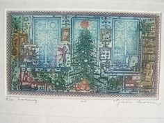 ART - Gross Arnold Hungarian artist Picasso, Screen Printing, City Photo, Vintage World Maps, Artist, Christmas, Painting, Screen Printing Press, Xmas