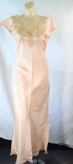 1930's Art Deco gown vintage Bias Cut by WindingRoadVintage, $78.00