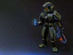 Super Punch: Lego Master Chief and tiny Cortana