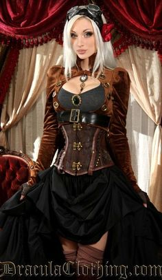 Brown Openbust Tailcoat Steampunk Couture