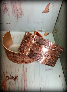 Paisley Copper Cuff Bracelet  #bracelet #cuff #jewellery #copper #womenswear #womensfashion #countrygirl #westernwear www.cheekysboutique.com