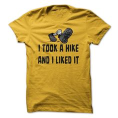 [Cool tshirt names] I Took A Hike And I Liked It Funny Hiking T Shirt Top Shirt design Hoodies, Funny Tee Shirts Father's Day T Shirts, Frog T Shirts, Cool Shirts, Funny Shirts, Tee Shirts, Slogan Tee, Geile T-shirts, Workout Shirts, Fitness Shirts