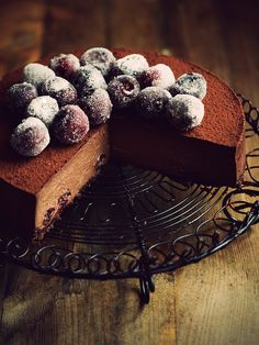 Chocolate cheesecake with cherries by Citrus and Candy, via Flickr