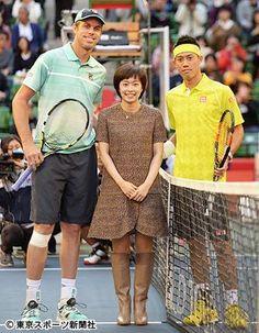 Sam Querrey , Japanese table tennis player Kasumi Ishikawa and Kei Nishikori