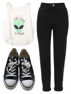 """""""Untitled #43"""" by exc4libur on Polyvore featuring Topshop and Converse"""