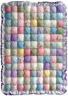 Very pretty puff quilt.