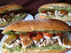Jamie Oliver's 15 Minute Meals - Mexican Sandwich (chicken, tomato & guacamole on ciabatta)