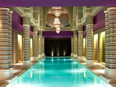 So Spa, Sofitel Legend Old Cataract Hotel, Aswan, Egypt. A hammam, indoor pool, tea lounge, and low-cal restaurant supplementing eight treatment rooms. Stanley Kubrick's 2001: A Space Odyssey meets Liz Taylor's Cleopatra.