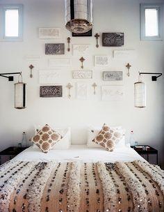 Morrocan wedding blanket bed via design crisis