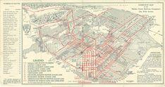 San Francisco's Market Street Railway, 1931 #map #transit #sfc #sanfrancisco