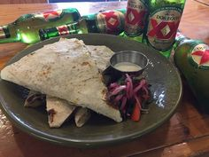 Perfect!! Poblano Chicken Quesadilla. W/ garlic crema & pico do gallo. 8.25$  @boca31.denton  #boca31 #chefandresmeraz #dentonslacker #dealoftheday #lunchspecial #denton #dentontexas #dentontx #dentoning #wedentondoit #wddi #unt #twu #dentonite #doingitdenton #dentonproud #discoverdenton