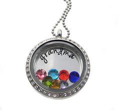 A personal favorite from my Etsy shop https://www.etsy.com/listing/165838029/floating-locket-grandma-necklace-charm