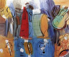 Mexican Musicians Artwork By Raoul Dufy Oil Painting & Art Prints On Canvas For Sale Raoul Dufy, Matisse, Maurice De Vlaminck, Postcard Art, Music Pictures, Jackson Pollock, Art Moderne, Naive Art, Gustav Klimt