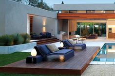 Outdoor lounge! You can never have too many clean lines!