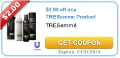 Put your savings away for vacation! $2.00 off any TRESemme Product