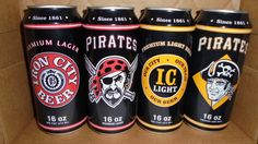 Iron City and Iron City Light Pirates Beer Cans 2016