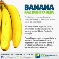 Banana faz muito bem! #banana #fitness #alimentacao #nutricionista #dieta #saude #fruta #frutas #anemia #caibra #academia #musculacao