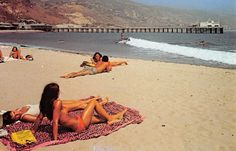 "westside-historic: "" Paradise Cove in Malibu, late '60s. That pier was greatly shortened by the 1983 El Nino storm, which also destroyed the Santa Monica pier and several others. """