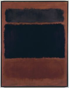 Mark Rothko | Black in Deep Red