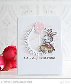 Stamps: Sweet Somebunny Die-namics: Sweet Somebunny, Balloon Alphabet & Numbers, Happy Birthday Circle Frame Stencil: Mini Cloud Edges Joy Taylor #mftstamps
