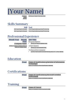 How To Make A Resume Sample | Sample Resumes
