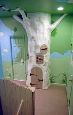 Image result for fake tree house in bedroom